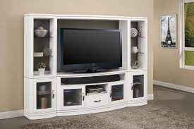 wall cottage white 4 pc entertainment wall