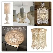 fun vintage inspired lighting with lace shades via dwellings and decor u60