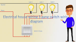 3 Switches 3 Lights Wiring Diagram House Wiring 3 Gang Switch Wiring Diagram 3 Gang Switch Switch