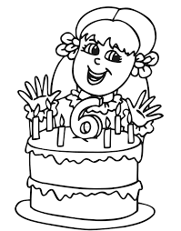Small Picture coloring pages happy 6 birthday This 6 year old birthday girl is