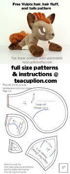 Free Plushie Patterns Interesting Free Vulpix Parts Plushie Sewing Pattern By TeacupLion On DeviantArt