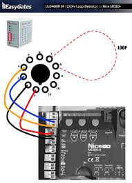 12 24 volt loop detector to nice mc824 control board uld466913f 12 24v loop detector to nice mc824