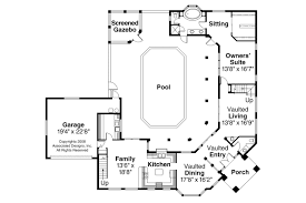 corner lot house plans. Southwest House Plan - Savannah 11-035 1st Floor Corner Lot Plans L