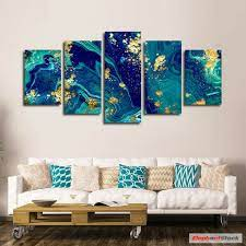 marble multi panel canvas wall