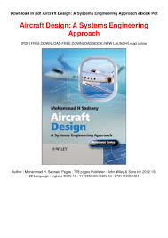 Aircraft Design Pdf Free Download Download In Pdf Aircraft Design A Systems Engineering