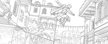 staying between the lines in in s creed the official coloring book gamer