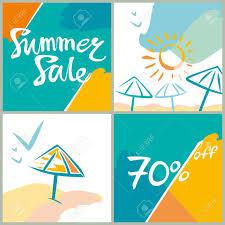 夏のセール70明るい正方形情報ポスター広告デザインのベクトル