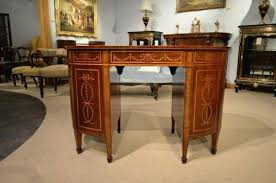 desk fine quality gany inlaid late victorian period kidney shaped desk 3 kidney shaped glass