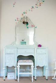 Pale Blue Bedroom Antique Bedroom Vanity Pale Blue Color With Mirror And Stool