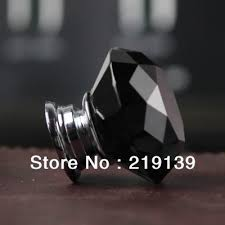 black glass cabinet pulls. K9 Single Hole Crystal Clear Glass Zinc Alloy Kitchen Drawer Cabinet Pulls Handles Black ?Decorate