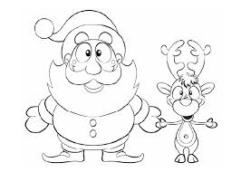 Coloring Pages Of Rudolph And Santa Coloring Pages