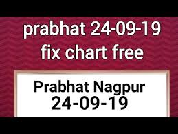 Prabhat 24 09 19 Chart Free Free For All