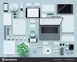 designer office desk isolated objects top view. Modern Office Workplace With Metallic Laptop. Isolated On White Background, Concept. \u2014 Photo By SectoR_2010 Designer Desk Objects Top View O
