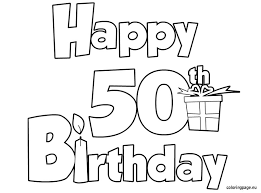 Small Picture happy 50 birthdayjpg Coloring B days Parties More