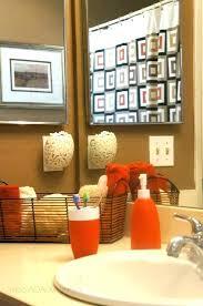 marvelous orange bathroom set orange bathroom decor photo 1 of 8 black cream and orange bathroom