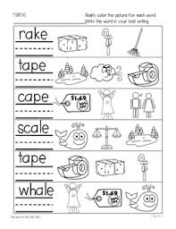 Choose the word that has a particular sound. Phonics Printables Long Vowel A E Freebie Tpt