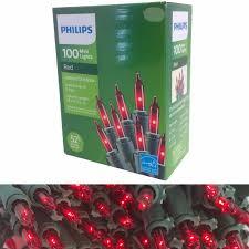 Philips 100 Green Mini Lights Upc 741895019226 Philips 100 Mini Lights Set Red Bulbs