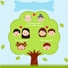 Diagram For Family Tree Family Tree A Diagram On A Genealogical Tree Stock Vector