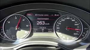 2015 Audi A6 3.0 TDI S-line (272 HP) Top speed on German Autobahn ...