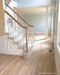 freshly sanded white oak hardwood floors
