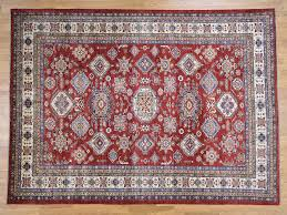 8 10 x12 hand knotted pure wool tribal design super kazak oriental rug cwr39864