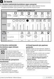 Çamaşır Kurutma Makinesi Kullanma Kılavuzu - PDF Ücretsiz indirin