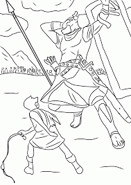 David And Goliath Coloring Pages 44 With David And Goliath Coloring