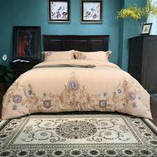 Machine Embroidery Designs For Bed Sheets Embroidery Design 100 Cotton Fabric Bed Cover Bed Sheet Pillow Case Four Pieces Bedding Set Queen And Kinnd Size Avaibllmutuaral Color 17525 Red