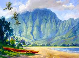 hawaii painting hei style by jenifer prince
