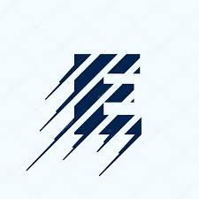 e logo design briefsjabloon stockvector