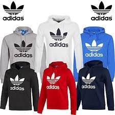 adidas hoodie mens. new adidas originals mens trefoil fleece hoodie hooded sweatshirt top s-xl \