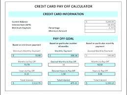 Credit Card Log Template Excel Interest Calculator Images Of