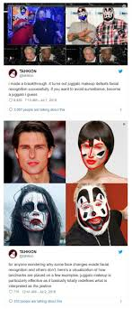 before juggalos say their famous whoop whoop not all recognition systems are fooled by the makeup those which use depth sensors like apple s