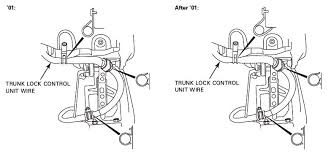 remote trunk wiring problem glriders here is the routing diagram for the 01 05 years the second set of diagrams are for the 06 08 years