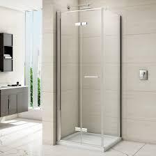 merlyn 8 series frameless hinged bifold shower door 800mm m87211