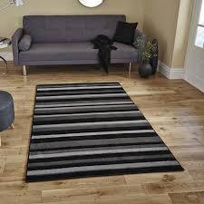 think modern rugs matrix mt22 black grey