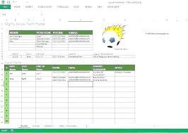 Team Snack Schedule Template Sports Team Schedule Template