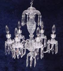 vintage waterford crystal avoca 6 arm chandelier never used