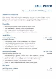 Professional Strengths Resume The Best Cv Templates By Industry And Job Titles My Perfect Cv