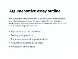 how to write an argumentative essay should argumentative essay  how