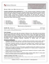 Project Manager Sample Resume Resume Samples