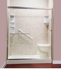 ella acrylic corner shower seat