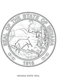 Seal Coloring Page Seal Coloring Pages With State Page Free