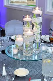 ... Awesome Silver Interior Style Designs Cylinder Vase Centerpiece Round  Table Shapes Candle ...