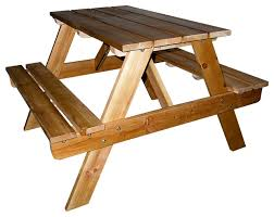 20 5 tall indoor outdoor wooden kids picnic table natural finish craftsman kids tables and chairs by ore international