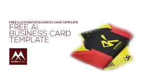 Free Business Card Template Illustrator Youtube