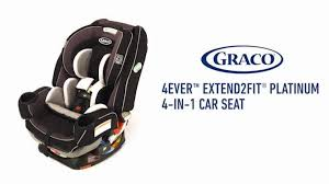 Video Graco® 4Ever™ Extend2Fit™ Platinum All-in-One Convertible Car Seat