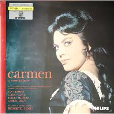 Carmen by Georges Bizet / Roberto Benzi / Jane Rhodes, LP Gatefold with  capricordes - Ref:118664759