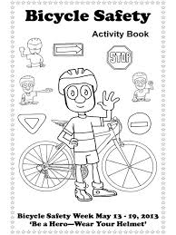 Small Picture Bicycle Safety coloring pages Free Printable Bicycle Safety