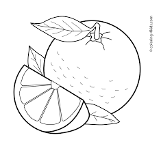 Orange Fruits Coloring Pages For Kids Printable Free Fructe